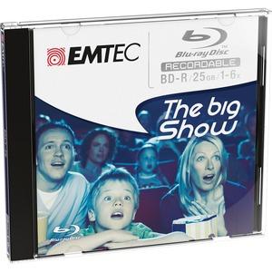 Blu-Ray (BD-R) Emtec 25 Go - 6x - 1 Boîtier CD - ECOBDR2516JC