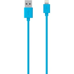 Lightning To USB Chargesync Cable 6 Inch - Blue- Ios Charging