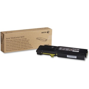 Yellow High Capacity Toner Cartridge Workcentre 6655 7500p / Mfr. No.: 106r02746