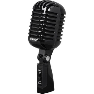 Classic Retro Die Cast Metal Vintage Style Vocal Mic Black / Mfr. No.: Pdmicr68bk