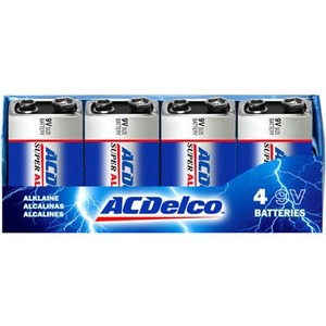 8count 9v Alkaline Batteries Acdelco Recloseable Box / Mfr. No.: Ac235