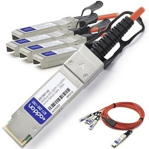 10m 40gbase-Aoc Qsfp+ To 4xsfp+ Active Optical Dac Cable F/Cisc / Mfr. No.: Qsfp-4x10g-Aoc10m-Ao