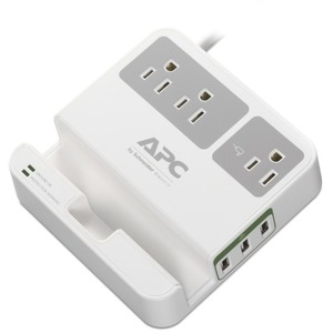 APC Essential SurgeArrest, 3 Outlets, 3 USB Charging Ports, 120V