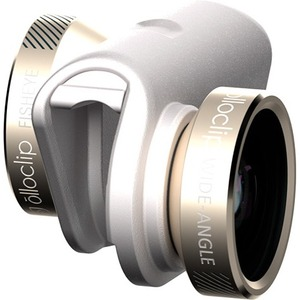 4in1 Photo Lens Ip6/6+ Gold/Wht Fisheye Wideangle 2 Macros 10x / Mfr. No.: Oceu-Iph6-Fw2m-Gdw