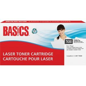 Basics® Laser Cartridge High Yield (Brother® TN360) Black