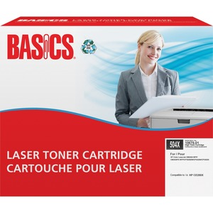 Basics® Laser Cartridge High Yield (HP 504X) Black
