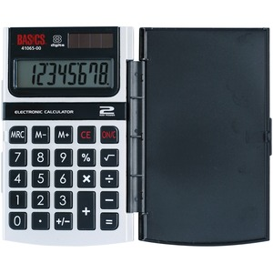 Basics® 8-Digit Hard Case Hand Held Calculator