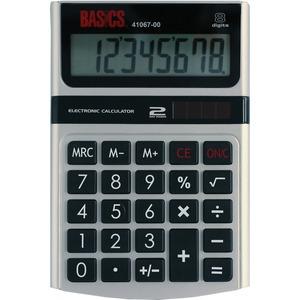 Basics® 8-Digit Dual Power Desktop Calculator