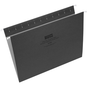 Basics® Coloured Hanging Folders Letter Black 25/box