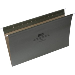 Basics® Recycled Hanging Folders Legal Green 50/box