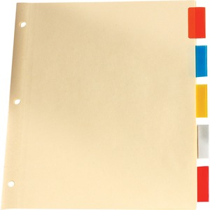 Basics® Insertable Indexes Assorted Colours 5 Tabs