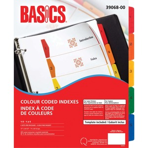 Basics® Colour Coded Indexes 1-5, 4 sets/pkg
