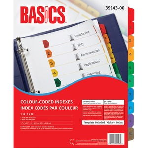 Basics® Colour-Coded Indexes 1-10, 4 sets/pkg