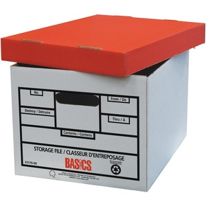 "Basics® Quick Set-up Storage Boxes 12"" x 15"" x 10"" 6/pkg"