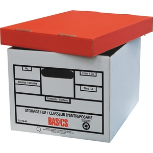 "Basics® Quick Set-up Storage Boxes 12"" x 15"" x 10"" 12/ctn"