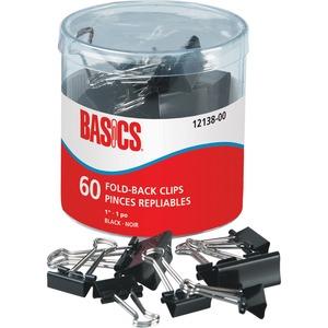 "Basics® Fold-Back Clips 1"" 60/tub"