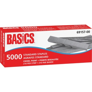Basics® Standard Staples Chisel Point 5,000/box