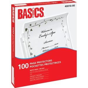 Basics® Page Protectors 3 mil Matte Letter 100/box