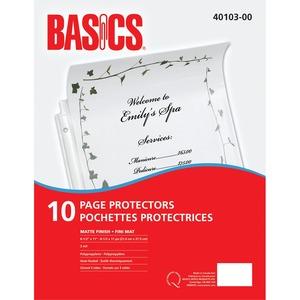 Basics® Page Protectors 3 mil Matte Letter 10/pkg
