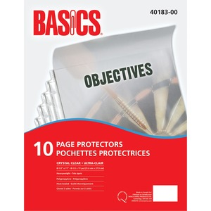 Basics® Page Protectors 3 mil Clear Letter 10/pkg