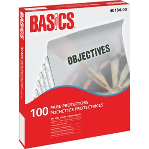 Basics® Page Protectors 3 mil Clear Letter 100/box