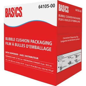 "Basics® Bubble Cushion Packaging with Dispenser 12"" x 175'"