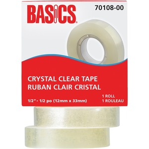 "Basics® Crystal Clear Tape Refill 1/2"" (12 mm x 33 m)"