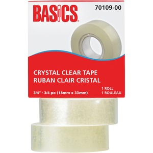 "Basics® Crystal Clear Tape Refill 3/4"" (18 mm x 33 m)"