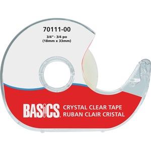 "Basics® Crystal Clear Tape Dispenser 3/4"" (18 mm x 33 m)"