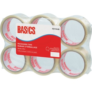 Basics® Packaging Tape 48 mm x 50 m Clear 6/pkg