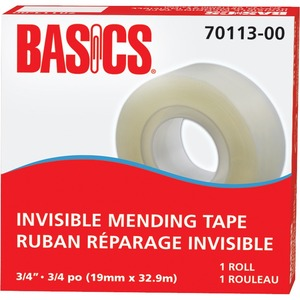 "Basics® Invisible Mending Tape Refill 3/4"" (19 mm x 32.9 m)"
