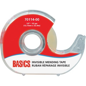 "Basics® Invisible Mending Tape Dispenser 1/2"" (12.7 mm x 32.9 m)"