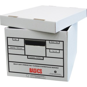 "Basics® Quick Set-up Recycled Heavy Duty Storage Boxes 12"" x 15"" x 10-1/4"" 12/ctn"