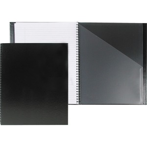 "Basics® Classic Coil Notebook 9"" x 7-1/4"" 192 pages Black"