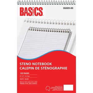 "Basics® Steno Notebook 6"" x 9"" 120 pages"