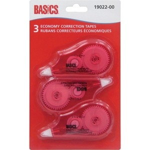 Basics® Economy Correction Tape 3/pkg