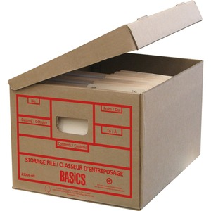 "Basics® Attached-Lid Storage Boxes 12"" x 15"" x 10"" 25/pkg"