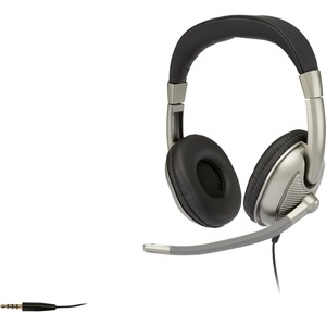 Stereo Headset In-Line Vol Ctlr Single Audio Plug Adj Boom Mic / Mfr. No.: AC-8002