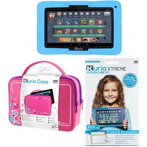 Kit Kurio Xtreme 7in Tab With Blue Bumper Pink Travel Bag Scr / Mfr. No.: 96405-96024-96447