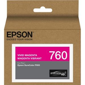T760 Ultrachrome Hd Vivid Magenta Ink / Mfr. No.: T760320