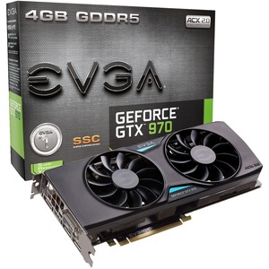 EVGA Geforce Gtx 970 4gb Ssc Acx 2.0 / Mfr. No.: 04g-P4-3975-Kr
