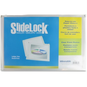 "Winnable SlideLock® Poly Zipper Envelope 17-3/4"" x 11-3/4"""
