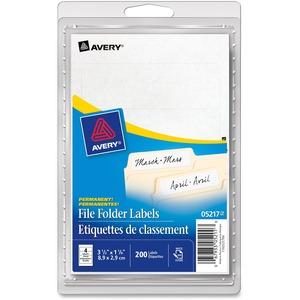 """Avery® File Folder Labels 3-1/2"""" x 1-1/8"""" White 200/pkg"""