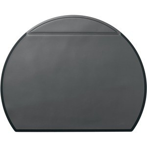 Semi Circular Desk Mat Black