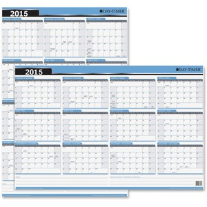 "Day-Timer® Reversible Flexible Vertical/Horizontal Planner 24"" x 36"" Bilingual"