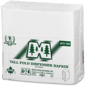 M' Brand Junior Dispenser Napkins White 500/pkg