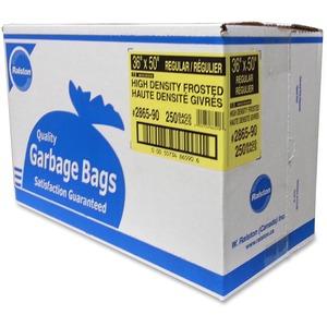 Ralston 2800 Series High Density Industrial Garbage Bags Regular Frosted 250/ctn