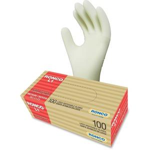 RONCO L1 General Purpose Latex Gloves 3 mil Medium Natural 100/box
