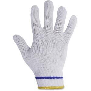 Gloves Knit Med White 12 pairs/pkg