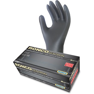 RONCO Sentron Examination Gloves Medium Black 100/box